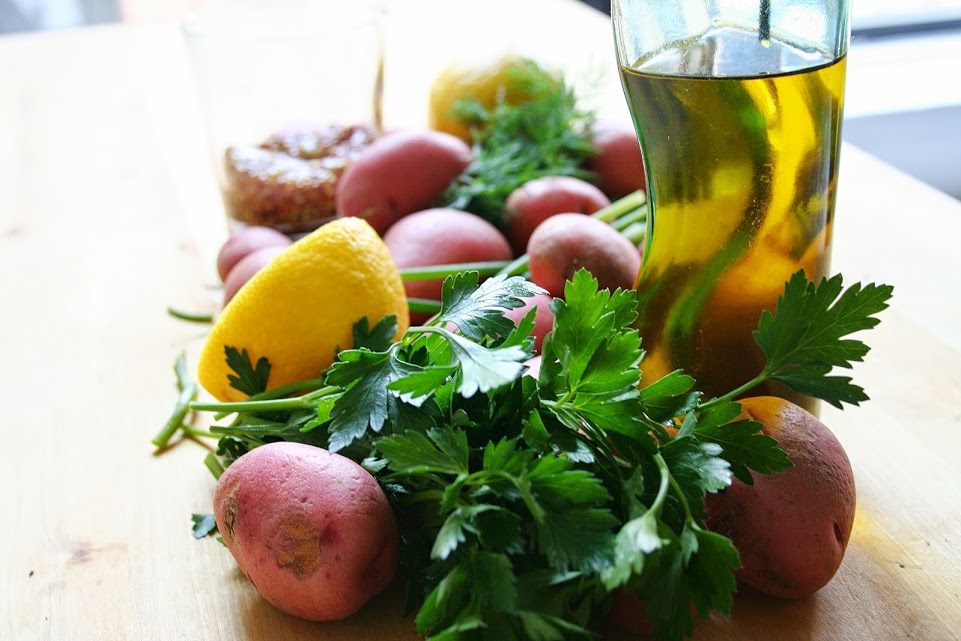Fresh Herb Potato Salad with Peas | Palate Evolved